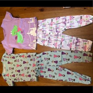 Princess and Dragon bedtime stories pajama set